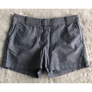 J Crew Women's Cotton Shorts Blue NWOT 10